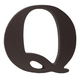 Little Haven Espresso Hanging Wall Letter Q