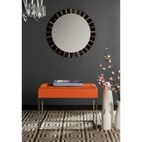 Safavieh Modern Glam Roitfeld Orange Ottoman
