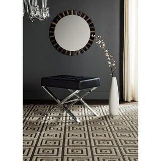 Safavieh Modern Glam Sienna Black Ottoman
