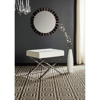 Safavieh Modern Glam Sienna White Ottoman