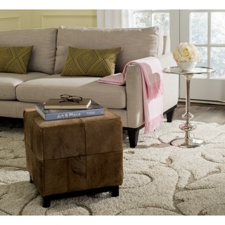 Safavieh Ricardo Black/ Brown Ottoman