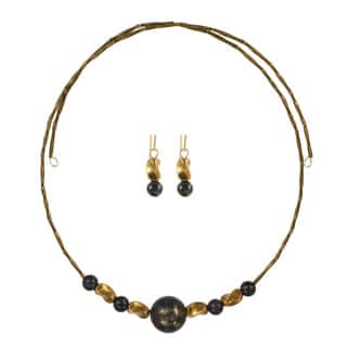 Midnight Twist Choker Necklace and Earring Set|https://ak1.ostkcdn.com/images/products/11417010/P18380345.jpg?impolicy=medium