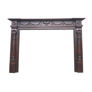 Handmade D-Art Oxford Mahogany 71-inch Fireplace Mantle (Indonesia)