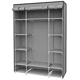 Grey Free Standing 13-shelf Storage Closet With Roll Down Covers