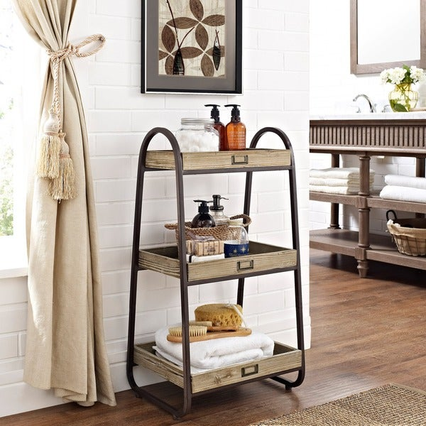 Shop Linon Three Tiered Bath Stand
