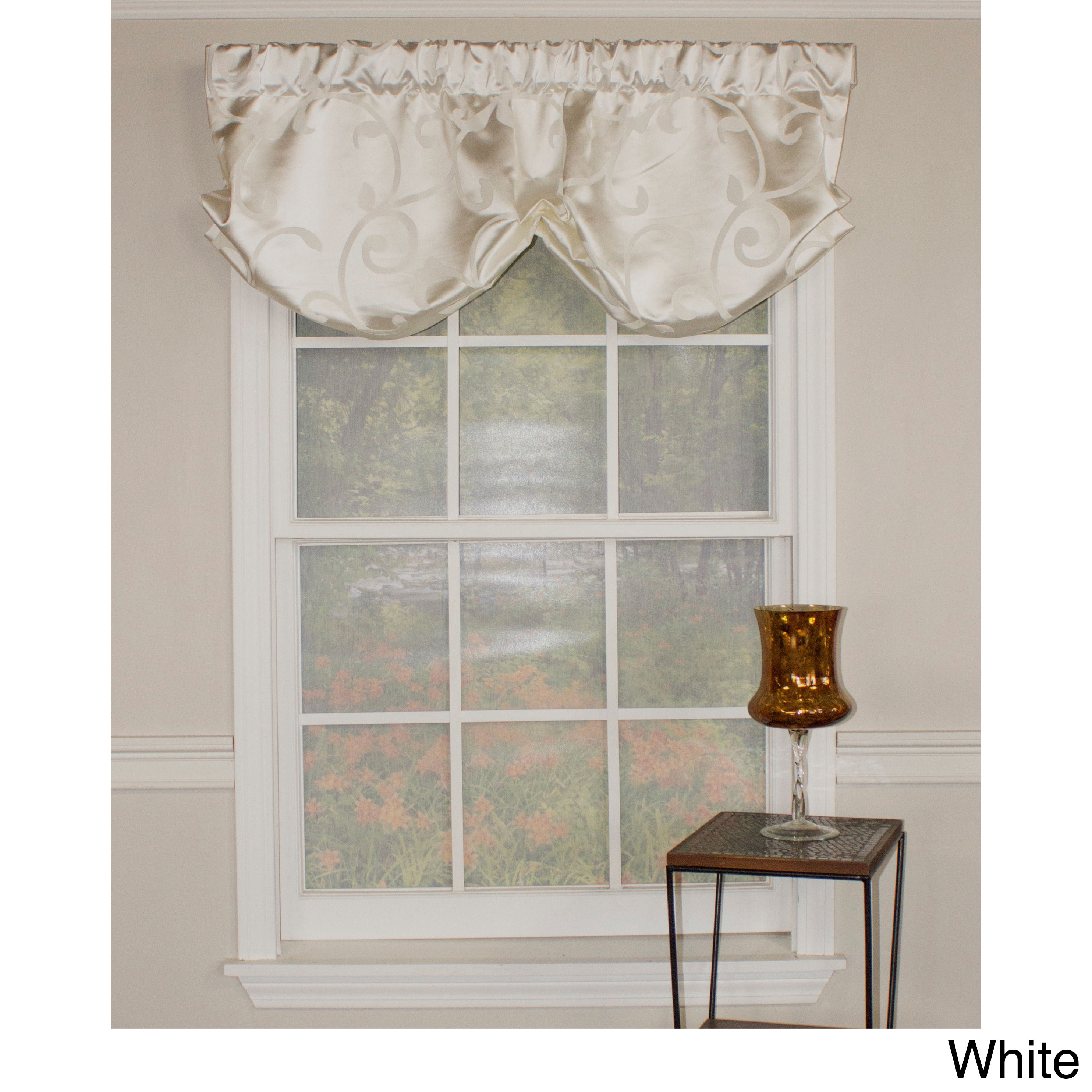 RLF HOME Luminous Balloon Valance (White) (All Polyester,...