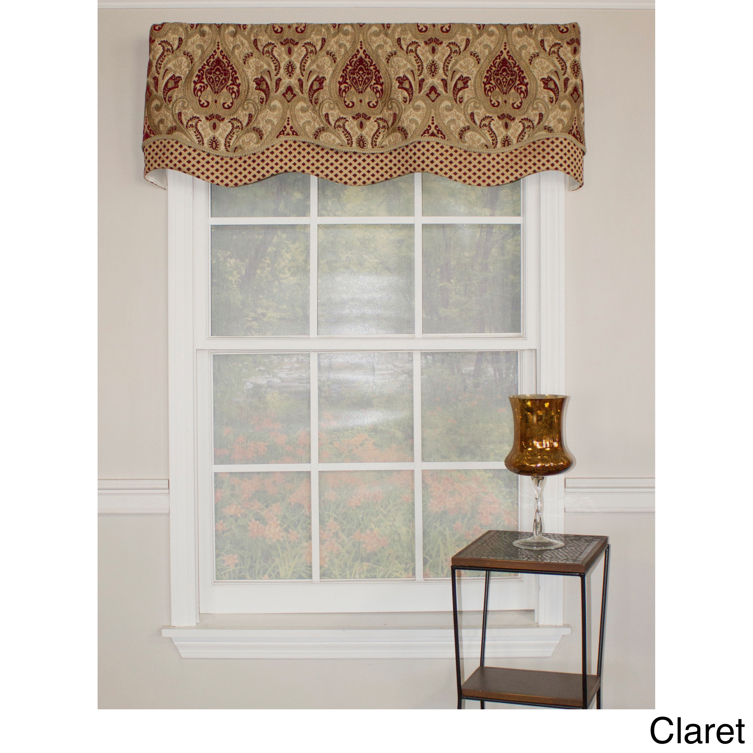 RLF HOME Paisley Dream Glory Valance (Red)