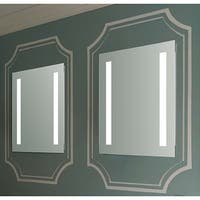 Innoci-USA Nyx Rectangle LED Wall Mount Lighted Vanity Mirror Featuring IR Sensor, Rocker Switch