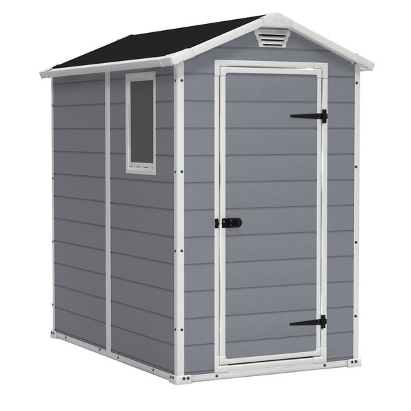 Arrow Galvanized Steel Storage Shed Instructions By Keter Manor 4 X 6 Ft  Resin Outdoor Backyard ...
