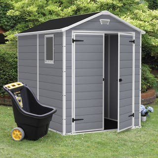 Keter Manor Large 6 x 8 ft. Grey Resin Outdoor Backyard Garden Storage Shed|https://ak1.ostkcdn.com/images/products/11417168/P18380459.jpg?impolicy=medium
