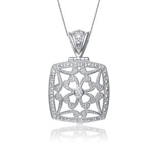 Collette Z Sterling Silver Cubic Zirconia Vintage Necklace