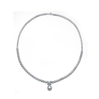 Collette Z Sterling Silver Cubic Zirconia Elegance Necklace