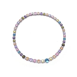 Collette Z Sterling Silver Multi Cubic Zirconia Necklace