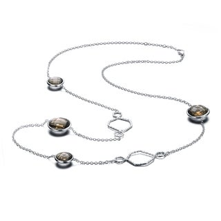 Collette Z Sterling Silver Cubic Zirconia Four Stone Necklace
