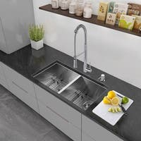 VIGO All-in-One 32-inch Stainless Steel Undermount Kitchen Sink and Laurelton Chrome Faucet Set