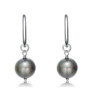 Collette Z Sterling Silver Grey Pearl Earrings