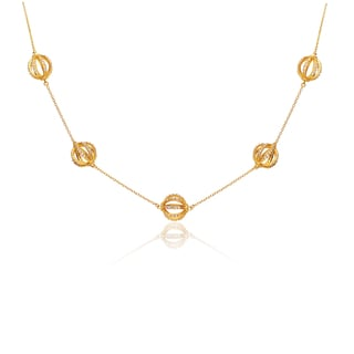 Collette Z Gold Overlay Mini Sphere Necklace