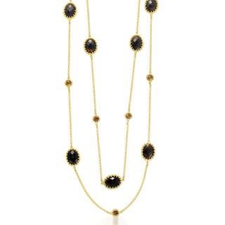 Collette Z Sterling Silver Genuine Quartz Multi Sphere Necklace