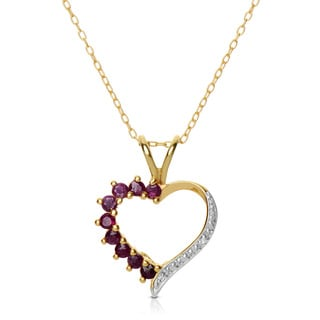 Collette Z Sterling Silver Genuine Ruby Heart Necklace