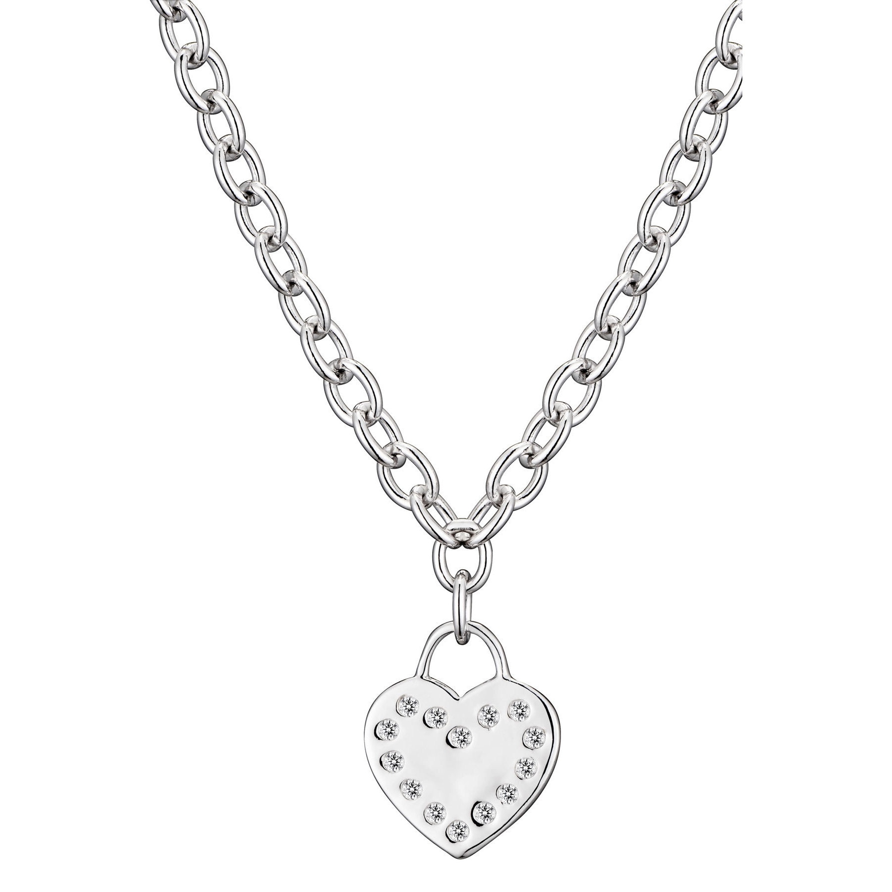 flat stainless pendant item necklace steel catalogitem heart