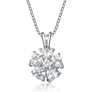 Collette Z Sterling Silver Cubic Zirconia Cut Circle Necklace
