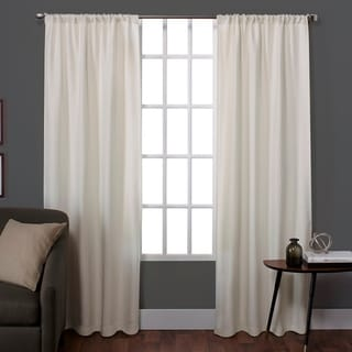ATI Home Zamora Textured Rod Pocket Window Curtain Panel Pair