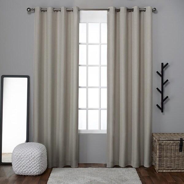Ati Home Grommet Top Loha Linen Window Curtain Panel Pair