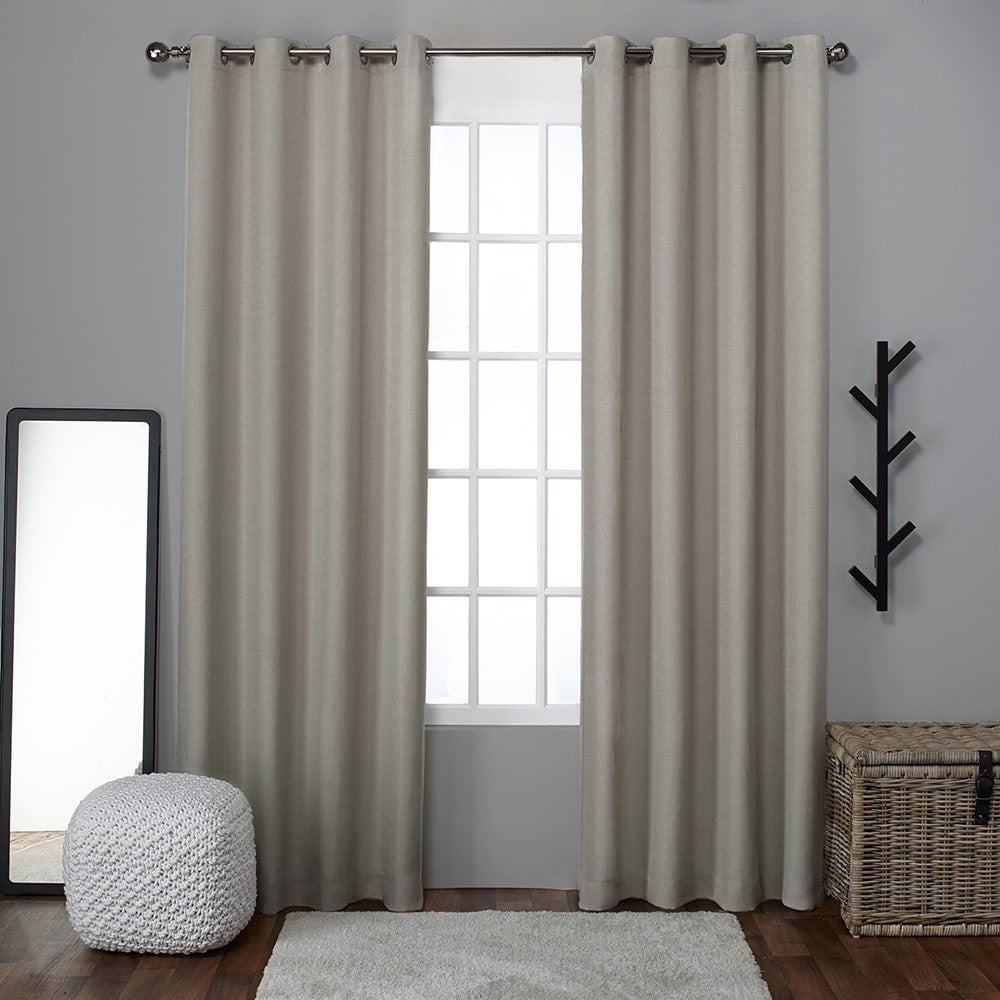 Shop ATI Home Grommet Top Loha Linen Window Curtain Panel Pair Free Shipping On Orders Over