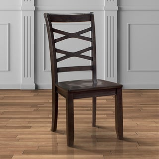 """Furniture of America Crane Country Style X-back Side Chair (Set of 2) - 18""""W X 21 3/4""""D X 38""""H"""
