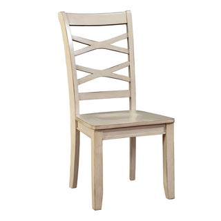 Furniture of America Crane Country Style X-Back Side Chair (Set of 2)