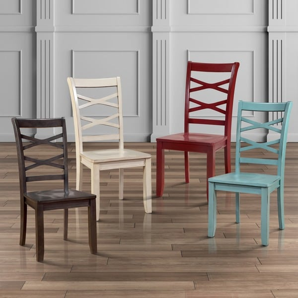 Furniture of America Crane Country Style XBack Dining Chair Set