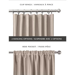 Taupe, Rod Pocket Curtains & Drapes - Shop The Best Deals For Apr 2017