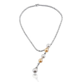 Collette Z Sterling Silver Five Ball Necklace