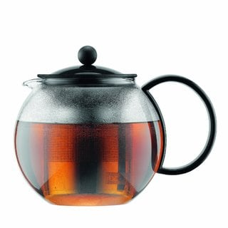 Bodum 1805-01US Assam Glass 34-ounce Tea Press with Stainless Steel Filter