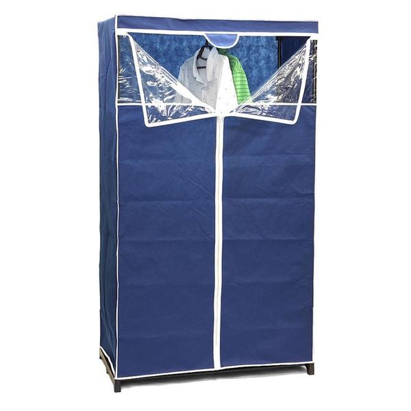 Navy Blue 36-inch Zippered Storage Closet