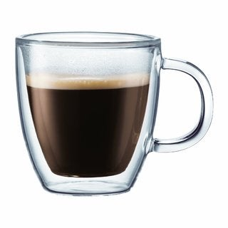 Bodum 10602-10 Bistro Double-Wall Insulated Glass Espresso Mugs (Set of 2)