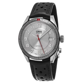 Oris Unisex 733 7671 4461 LS 'Artix GT' Silver Dial Black Leather Strap Date Swiss Automatic Watch|https://ak1.ostkcdn.com/images/products/11417488/P18380759.jpg?impolicy=medium