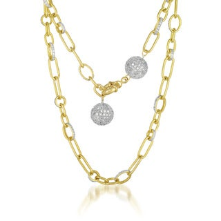 Collette Z Gold Overlay Ball and Chain Necklace
