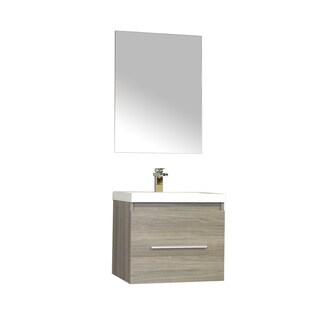 Alya Bath Ripley Collection 24-inch Single Wall Mount Modern Bathroom Vanity Set in Grey