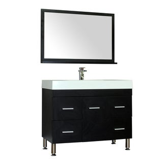 Alya Bath Ripley Collection 39-inch Single Modern Bathroom Vanity Set in Black