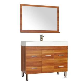 Alya Bath Ripley Collection 39-inch Single Modern Bathroom Vanity Set in Cherry