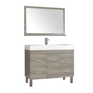 Alya Bath Ripley Collection 39-inch Single Modern Bathroom Vanity Set in Grey