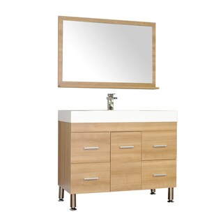 Alya Bath Ripley Collection 39-inch Single Modern Bathroom Vanity Set in Light Oak