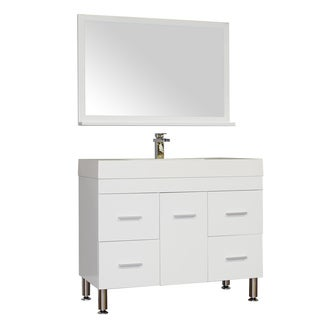 Alya Bath Ripley Collection 39-inch Single Modern Bathroom Vanity Set in White