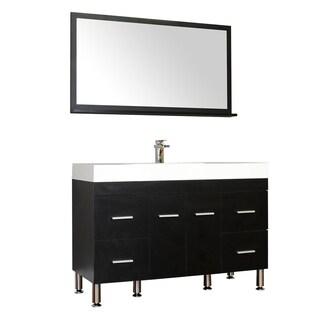 Alya Bath Ripley Collection 47-inch Single Modern Bathroom Vanity Set in Black