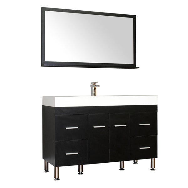 Black Bathroom Vanity Set: Shop Alya Bath Ripley Collection 47-inch Single Modern