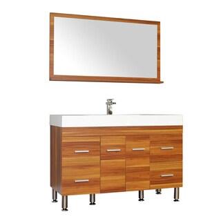 Alya Bath Ripley Collection 47-inch Single Modern Bathroom Vanity Set in Cherry