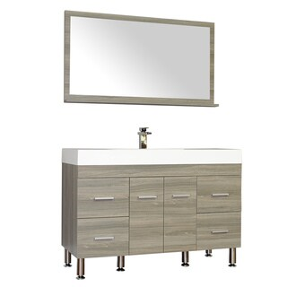 Alya Bath Ripley Collection 47-inch Single Modern Bathroom Vanity Set in Grey