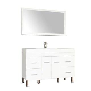 Alya Bath Ripley Collection 47-inch Single Modern Bathroom Vanity Set in White