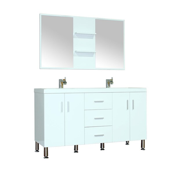 Alya bath ripley collection 56 inch double modern bathroom vanity set